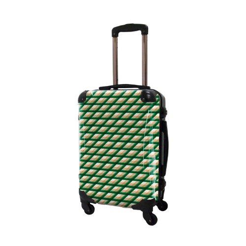 [キャラート] アート スーツケース 機内持込可 保証付 31L 57cm 3.2kg CRA01H-021E グリーン グリーン