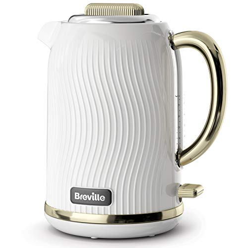 Breville Flow Electric Kettle | 1.7 L | 3kW Fast Boil | White & Gold...