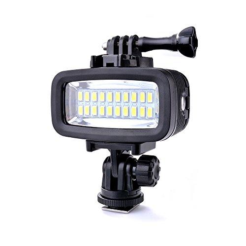 Sunix® 40M Luce impermeabile subacquea dimmerabile LED ad alta potenza Video POV Flash Inseribile, 6W 20 LED 700LM per GoPro Hero 3/4 Sport fotocamere DSLR