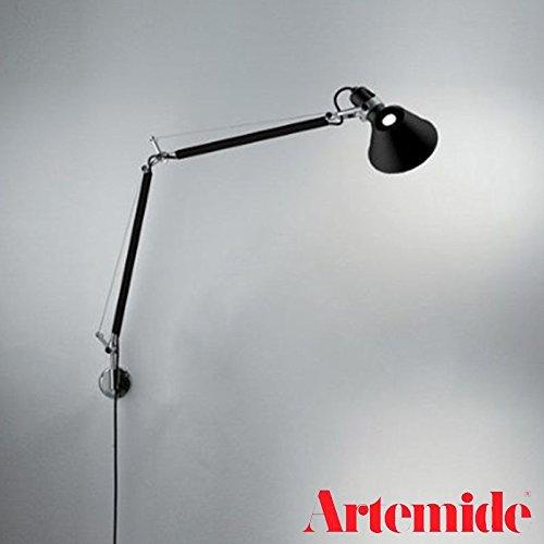 Artemide Tolomeo wandlamp zwart E27 77W base 23 cm A004430 + A025150