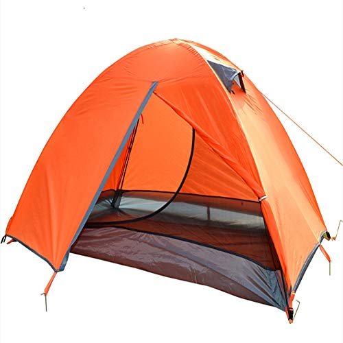 ACEWD Backpacking Tent 2 Person Lightweight Waterproof, Sundome Tent, Dome Tent for Camping, Portable Cabana Beach Tent,Orange,1 door