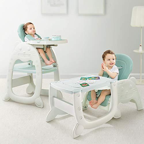 Kinderhochstuhl Multihok Baby & Kinder Hochstuhl Multifunktion - Maltisch mit Stauraum - verstellbar - mit extra Tablett - Tisch - Stuhl - Kindertisch - Spieltisch von Daliya
