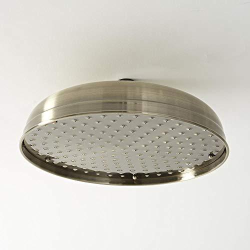 Hudson Reed Elizabeth - Pommeau de douche pluie rond fixe rétro 30 cm - Or brossé