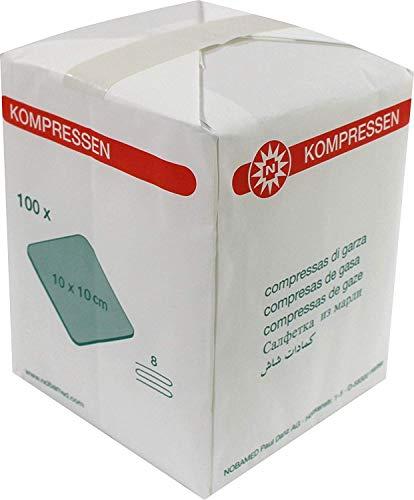 Nobatop gaaskompres nonwoven 8-laags 10x10cm 100 stuks