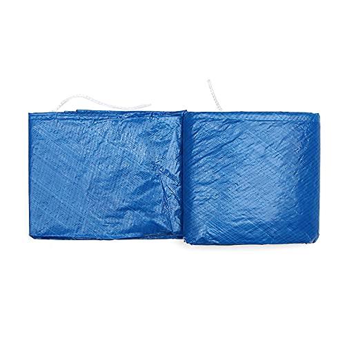 Weskjer Cubierta de Piscina, Cubierta de Piscina a Prueba de Lluvia y Polvo, el diseño de cordón es Adecuado para Piscinas Redondas sobre el Suelo (244cm)
