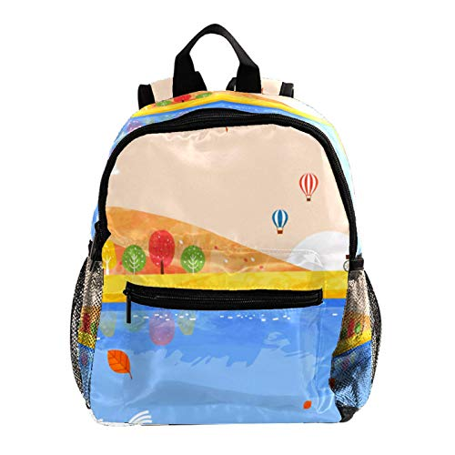 Kid Child Girl Cute Patterns Printed Backpack School Bag,Orange Fall Story