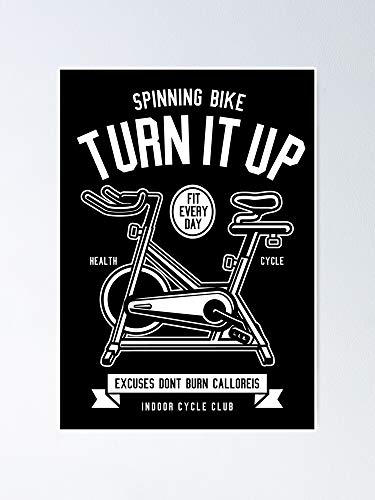 "Spinning Bike Poster - Best Gift for Your Parent and Peoples, Decorate Room. No Frame Board, 17"" X 25.5""(432 648 Mm)"