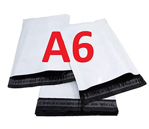 Kunststoffhülle 1000 A6 C6 120 x 170 mm Versandtasche opaker weißer Kunststoff 50 Mikron