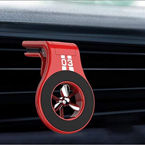 De snap-autoparfum outlet autonavigatie houder autohouder magnetische telefoon aromatherapie fan (Color : Red)