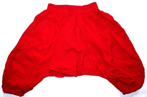 Sarouel para bebé, 12 meses 1 año, diseño étnico Harem pant-Pantalón para niño, diseño de niña para niño, color rojo