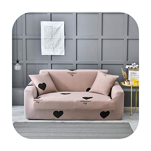 Double-sweet Elastischer Sofabezug Stuhlschoner Wohnzimmer Spandex Modern Polyester Ecksofa Couch Schonbezug 1/2/3/4...