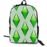 Allures The Sims Plumbob Casual School Bag - Mochila de viaje unisex para ordenador