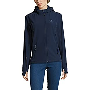 Ultrasport Advanced Softshell Jacket Tina for Women, Women's Functional Jacket, Women's Outdoor Jacket, Navy/Light Blue, 2X-Large:Videomesum