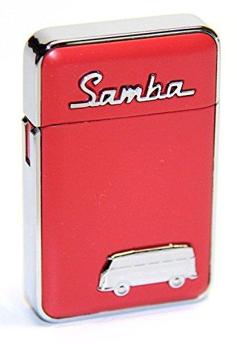 """VW Volkswagen Samba Bus \""""Coloured\"""" Sturmfeuerzeug Feuerzeug rot [Versand durch konsum-shop]"""