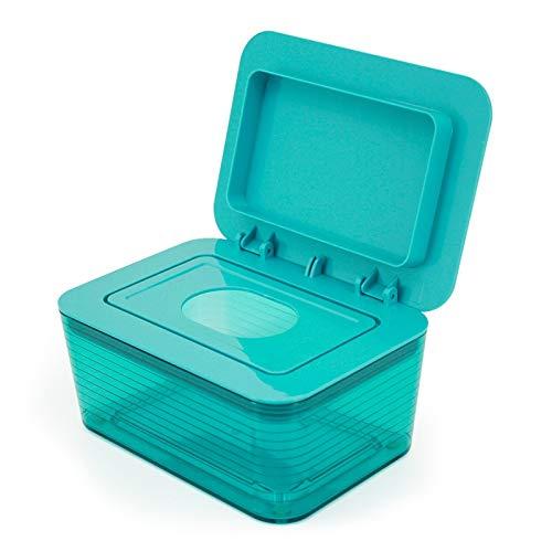 Caja sanitaria de pañuelos húmedos para bebé, cajón sellado, hogar, sala de estar, maquillaje, caja de toallitas húmedas, caja de toallitas húmedas (color: verde)