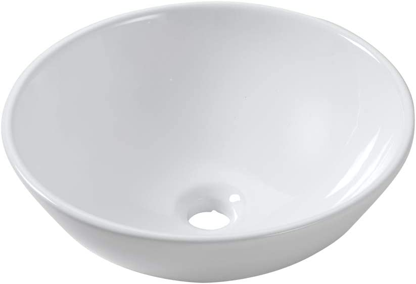 Lordear 13x13 Cash special price Small Round Bowl Bathroom Modern Sink Vessel White 2021 spring and summer new