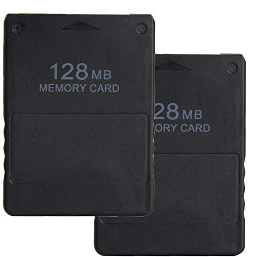 LEAGY 2 pezzi Memory Card da 128 MB per Sony Playstation 2 PS2