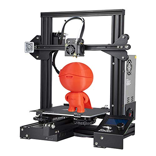 Creality Ender 3 con placa de construcción de fibra de vidrio extraíble e impresión de currículum de código abierto 220x220x250 mm