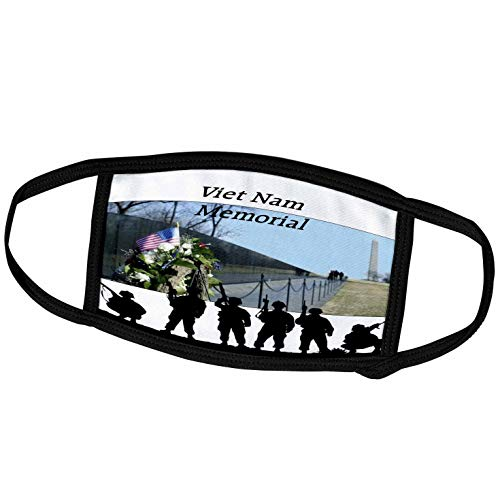 3dRose Image of Viet NAM Memorial with Silhouette Soldiers - Face Covers (fc_309798_3)