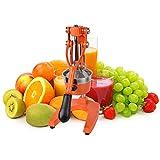 Obst und Gemüse saftiger Multifunktionskolben handgepresster Zitronensaftmittel, geeignet für schellfreies Obst und Gemüsepressen zu Hause Tisch Eisen grau