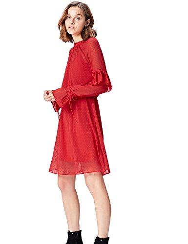 Marca Amazon - find. Vestido de Fiesta para Mujer, Rojo (Rot), 38, Label: S