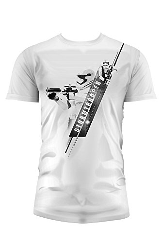SD toys - T-Shirt - Star Wars Episode 7- Homme Stormtrooper Blaster Blanc Taille XL - 8436546898733