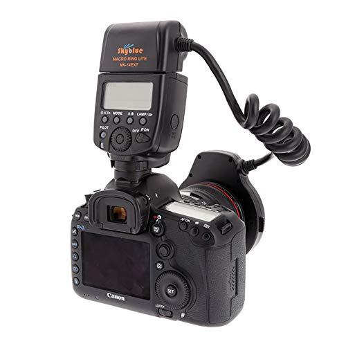 Meike MK-14EXT LED E-TTL macro anillo flash para Canon 5D II III...