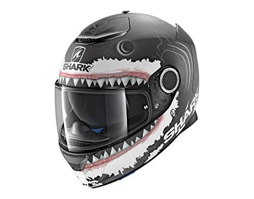 Shark Casco Integrale Spartan Replica Lorenzo, opaco nero/bianco antracite, taglia XXL