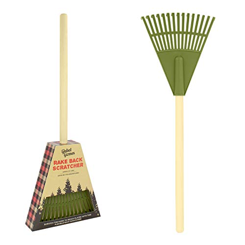 Global Gizmos 56090 - Rastrillo para jardín (flexible, fácil de alcanzar,...