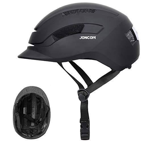 Joncom Adult Bike Helmet Men Women with Rear Light, CPSC CertifiedAdjustable Bicycle Helmet for Urban Commuter