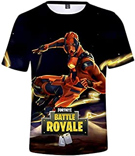 Competitive game Fortnite trend 3D digital printing men and women loose short-sleeved T-shirt color 05