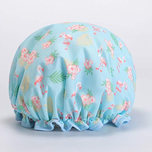 LIFEILONG 3 pièce de beauté imperméable à l'eau de beauté Adulte Femelle shampooing Douche Bonnet de Douche 06# Bleu 27CM