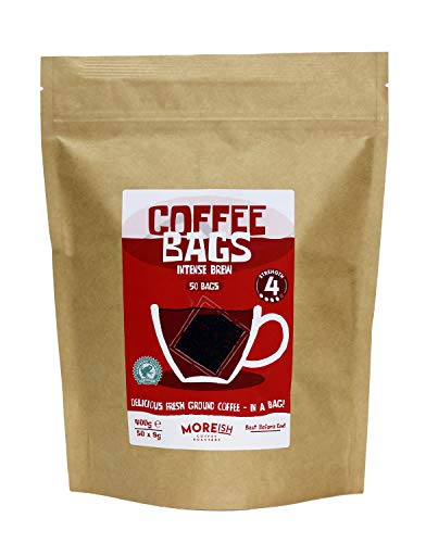 Moreish Coffee Bags - Intense Brew - Rainforest Alliance (50 Strong Coffee Bags)