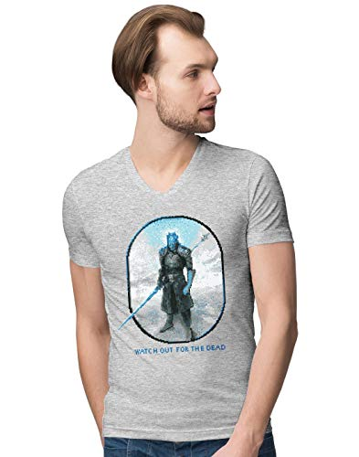 BLAK TEE Homme Watch Out for The Dead V-Neck T-Shirt XXL