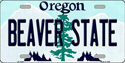 TammieLove New License Plate beaver state oregon state background novelty License Plate Sign 15x30 CM