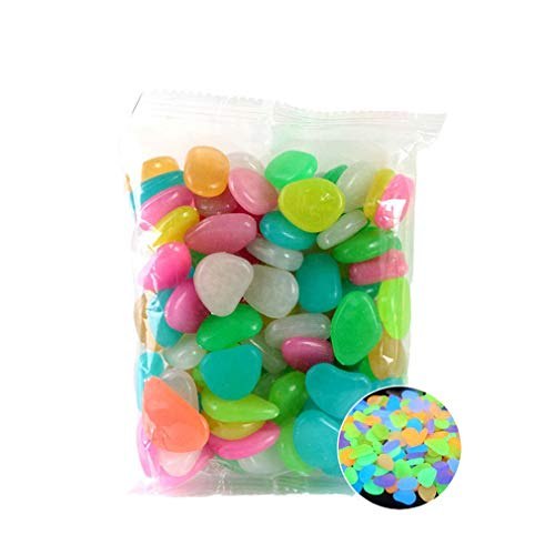 JIE Garden Pebbles Glow Stones Rocks für Gehwege Garden PathColor30pcs Xie Color