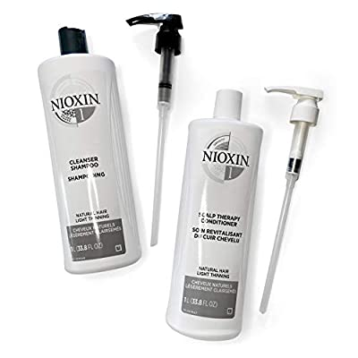 Nioxin Cleanser Shampoo, Hair Care System 1 for Natural Hair with Light Thinning