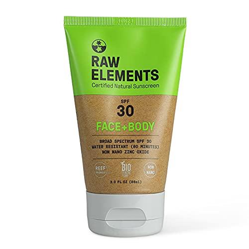Raw Elements Eco Form Sunscreen SPF 30 Plus 3 Oz