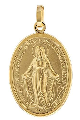 trendor Milagrosa Anhänger Gold 333 (8 Karat) 24 mm zauberhafter Echtgold Anhänger für Damen und Herren, Abbild der Mutter Jesu, Goldschmuck, Madonna, 75331