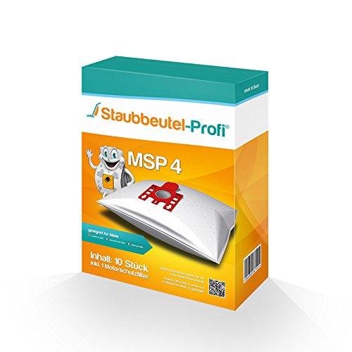 10 Staubsaugerbeutel MSP4 von Staubbeutel-Profi® kompatibel zu Swirl M40, Swirl M49 & Org. Miele Typ G/N GN HyClean 3D