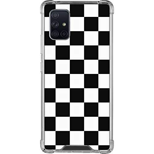 Skinit Clear Phone Case Compatible with Galaxy A71 5G - Skinit Originally Designed Black and White Checkered Design