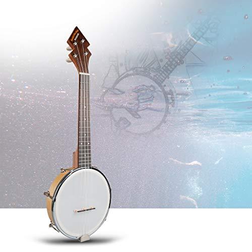 26 Zoll Banjo Banjolele Ukulele 4-saitig Vintage-plattiert mit elektronischem Tuner in der Tragetasche