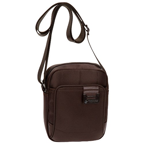 Beverly Hills Polo Club Bolt Bolso Bandolera, 20 cm, 2.81 litros, Marrón