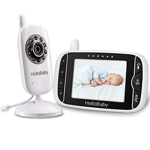 HelloBaby Video Baby Monitor with 3.2Inch LCD...