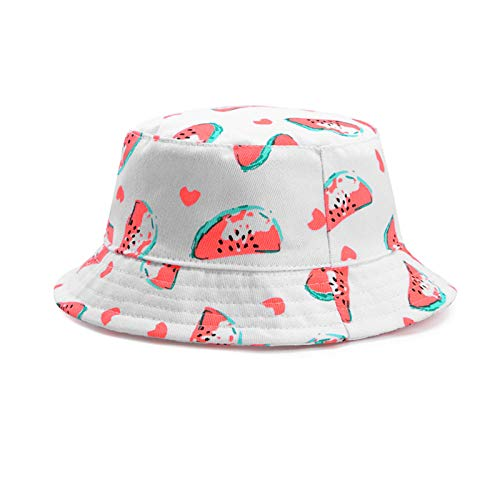 Niños Sombrero de Cubo Impermeable al Aire Libre Reversible Tie Dye Gorra de Lluvia Cubo Protección Solar Sombrero de Verano para bebé niña Niño Niño Niño,Blanco,54cm (4_8 Years Old)
