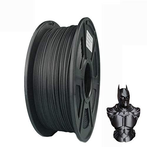 Suntop PLA Filament 3D Printer Filament Carbon Fiber Filament 1.75mm 20% Carbon Fiber Dimensional Accuracy +/- 0.03 mm 1kg 2.2lbs Black Spool
