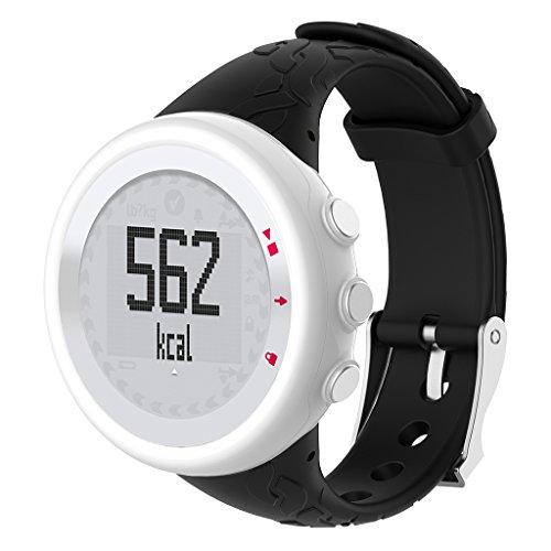 sunhoyu Soft Silikon Armband, Uhrenarmband für SUUNTO-Suche M1 M2 M4 M5 M-Reihe, Weiche Gummi Uhr Band Ersatzarmband für Herren/Damen Uhren (Schwarz)