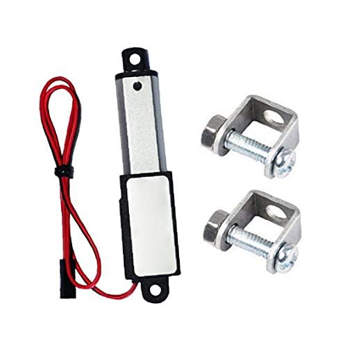 Mini actuador lineal Mini eléctrico impermeable con soportes de montaje 12V 60N Longitud de trazo 50 mm velocidad 15mmurableSeguro