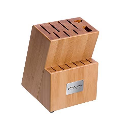 Ergo Chef Crimson Series 15-Slot Bamboo Knife Block -  3017