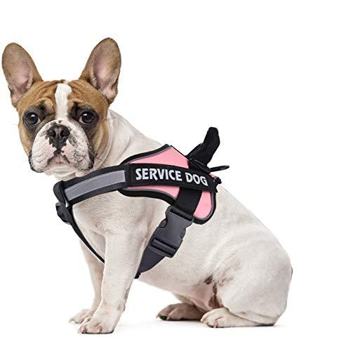 MUMUPET Hundegeschirr No Pull Pet Harness Einstellbare Service Hundeweste für kleine Hunde Einfache Kontrolle, 3M Reflektierendes Oxford-Material, Weste Outdoor Walking, 2 Metallringe und Griff Kein Ziehen oder Ersticken mehr